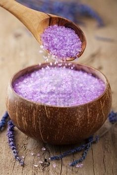Herbal lavender salt  [I found an epsom salt solution with lavender & other herbs.  It was nice for the bath.. BKT]