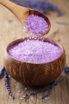 Herbal lavender salt [I found an epsom salt solution with lavender & other herbs. It was nice for the bath.. BKT]
