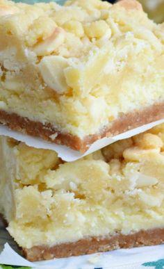 Lemon Cheesecake Bars: layers of cookie crust, lemon cheesecake and lemon cookie…