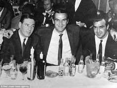 Frankie Fraser, left, pictured with actor Stanley Baker and gangster, Eddie Richardson. Frankie Fraser, Stanley Baker, The Krays, King's College, Hard Men, London Today, Band Of Brothers, All I Ever Wanted, South London
