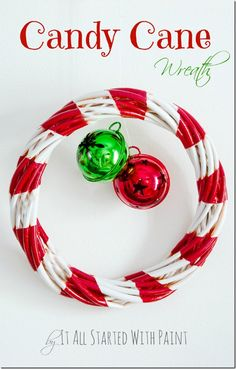 Candy Cane Wreath   It All Started With Paint