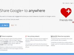 Friends+Me, automatically share publications from Google+ to other social networks