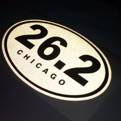 "7""X4.25"" Highly Reflective at Night Chicago specific decal Place it on your car, window, notebook, on any surface. Show off your achievement! Free Shipping"