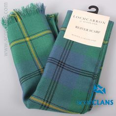 Johnstone Ancient Tartan Riever Weight Scarf. Free worldwide shipping available