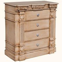 >Roman Pillar Hand Carved Tropical Hardwood Buffet Sideboard
