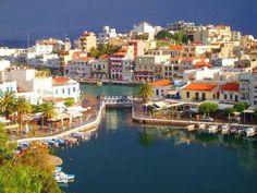 Άγιος Νικόλαος Λασιθίου. Agios Nikolaos (St. Nikolas) Lasithiou in Crete