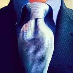 Nice blue tie.