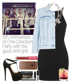 """""""Party with the guys and girls."""" by welove1 ❤ liked on Polyvore featuring Topshop, Bobbi Brown Cosmetics, Christian Louboutin, Fallon and Lime Crime"""