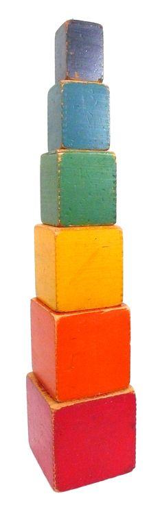 children's color building blocks - usa - circa 1939