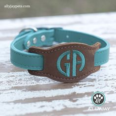This is our signature product. This unique, fully leather design is Made in the USA and comes in 9 colors and 4 sizes. Give your pet this monogrammed, leather dog collar for a beautiful, unique look! Leather Accessories, Dog Accessories, Leather Jewelry, Dog Collars & Leashes, Leather Dog Collars, Unique Dog Collars, Dog Items, Dog Hacks, Leather Projects