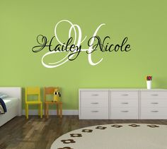 A personal favorite from my Etsy shop https://www.etsy.com/listing/166940833/baby-girl-nursery-decal-monogram-name