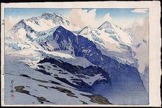 The Jungfrau (Yungufurau-Yama), from the European Series by Hiroshi Yoshida from Toledo Museum of Art Landscape Prints, Landscape Art, Museum Of Fine Arts, Art Museum, Hiroshi Yoshida, Toledo Museum Of Art, Art Chinois, Japanese Painting, Art Graphique