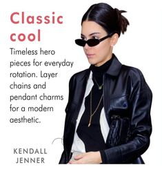 Layered Chains, Kendall Jenner, Hero, Pendant, Classic, Movies, Derby, Films, Hang Tags