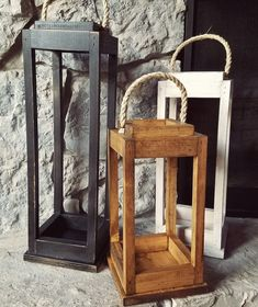 Wooden Lanterns, Lanterns Decor, Homemade Lanterns, Small Wood Projects, Easy Diy Projects, Woodworking Crafts, Woodworking Ideas To Sell, Rustic Wood, Wooden Diy