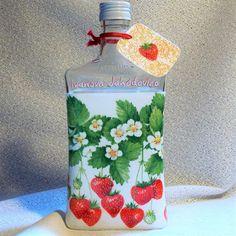 Darčeková fľaša na pálenku Ivanova Jahodovica