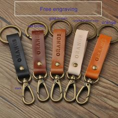 2 pcs Personalized Leather Keychains , Custom with letters),Personalized Keyholder, Custom fathers day gift Leather Diy Crafts, Leather Projects, Leather Craft, Leather Keyring, Leather Gifts, Handmade Leather, Leather Accessories, Leather Jewelry, Leather Bag Tutorial