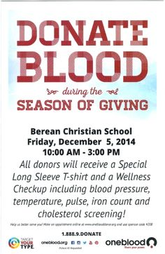 Blood Drive. Giving back.