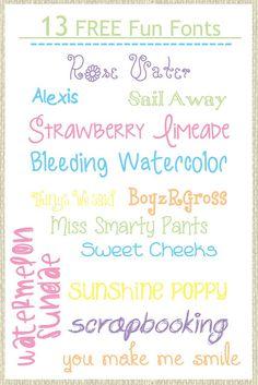 i like alot of these: scrapbooking, bleeding, watercolor, sweet cheeks, miss smarty pants