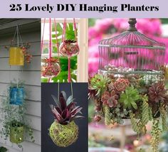 Recipes, Projects & More - 25 Lovely DIY Hanging Planters Ideas