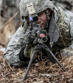 Infantrymen assigned to the 1st Battalion, 325th Airborne Infantry Regiment, 2nd Brigade Combat Team, 82nd Airborne Division, engage simulated enemy combatants during the Infantry Platoon Battle Course on Fort Pickett, Va., Feb. 24, 2015.