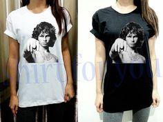 Jim Morrison Shirt Point Thin Cotton Unisex White by RainyTee