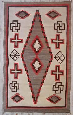 Crystal Navajo Weaving : Historic : GHT 549 : x Native American Rugs, Native American Artifacts, Native American History, Navajo Weaving, Navajo Rugs, Southwest Art, Sewing Art, Textures Patterns, Ethnic Patterns