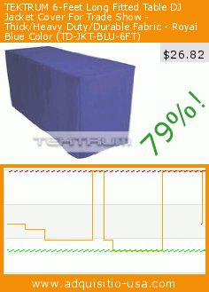 TEKTRUM 6-Feet Long Fitted Table DJ Jacket Cover For Trade Show - Thick/Heavy Duty/Durable Fabric - Royal Blue Color (TD-JKT-BLU-6FT) (Office Product). Drop 79%! Current price $26.82, the previous price was $125.00. https://www.adquisitio-usa.com/tektrum-development/tektrum-6-ft-long-fitted-0