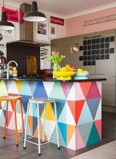 Look We Love: Serious Color in the Kitchen