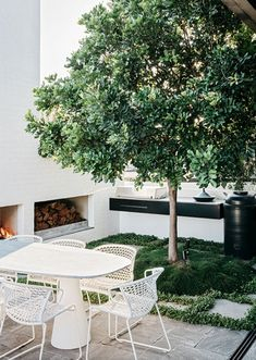 A Factory Rooftop Turned Lush Penthouse Garden. A Factory Rooftop Turned Lush Penthouse Garden Outdoor Spaces, Outdoor Living, Outdoor Decor, Penthouse Garden, Landscape Design, Garden Design, Courtyard Design, Riverside Garden, Rooftop Design