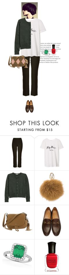 """my real outfit today"" by akchen ❤ liked on Polyvore featuring Roland Mouret, MANGO, H&M, Lucky Brand, Gucci, Allurez and Deborah Lippmann"
