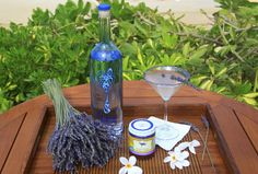 """Another great idea for a Signature Drink.. The Four Seasons Resort Maui at Wailea's """"Kula Lavender Mist"""" Cocktail I love the fresh sprig with the Lavender Sugar Rim! #LuxBride"""