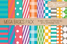Mega Pack 136 Patterns by Pip Sweet on Creative Market