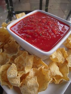 Homemade Salsa - only 4 ingredients!