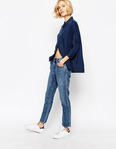 Image 1 ofWaven Jersey Denim Look Sweat Pant Jeans