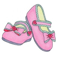 8855 - Baby Girl Shoes Rubber Stamp - Sku: E757