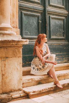 Beautiful blue and cream embroidered sleeveless dress // A Clothes Horse // Travel: A Day In Dubrovnik