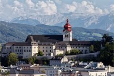 ----------------------------------------------------------------------------------------  Nonnberg Abbey is a Benedictine monastery in Salzburg Austria... it really caught my attention with the massive mountains looming behind it and i got an idea for a telephoto shot to really accentuate this setting...