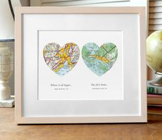 (730+) We don't have many reviews here yet, but we have plenty on Etsy! This sweet print makes the perfect unique gift. Choose ANY 2 cities in the world! We have a vast resource of maps to use, so eve