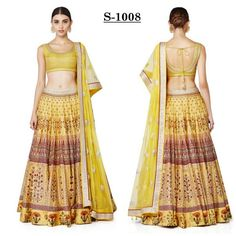buy saree online Light Yellow Colour Digital Printed Party Wear Lehenga Choli Buy Saree online - Buy Sarees online