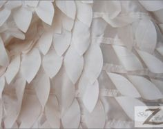 "Leaf Style Taffeta Fabric - CHAMPAGNE - Sold By The Yard 58""/60"" Width"