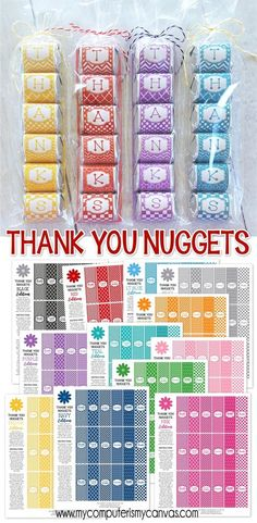 Products - Thank YOU gift idea, easy thank you, thank you nugget wrappers, teacher appreciation printable, pri - Birthday Gifts For Best Friend, Best Friend Gifts, Happy Birthday, Small Thank You Gift, Thank You Ideas, Appreciation Thank You, Employee Appreciation, Candy Wrappers, Neighbor Gifts