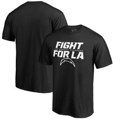 Los Angeles Chargers NFL Pro Line by Fanatics Branded Hometown Collection Fight For LA T-Shirt - Black