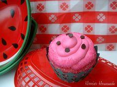 Watermelon Cupcakes: Cupcake Tuesday – Hoosier Homemade