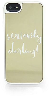 "Kate Spade New York Seriously Darling!"" iPhone 5/5s Case http://www.shopstyle.com/action/loadRetailerProductPage?id=460494991&pid=uid7609-25959603-56"