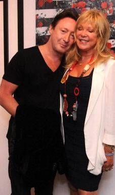 Julian with Pattie Boyd