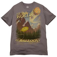 ''See the World by Balloon'' Up Tee for Men | Up | Disney Store