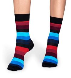 Blue and red stripe socks. Remember, there is a pair of high quality socks for any occasion. Made from combed cotton, they're sure to be the most Stripes Fashion, Tomboy Fashion, Striped Socks, Happy Socks, Shades Of Black, Crew Socks, Blue Stripes, Red And Blue, Unisex