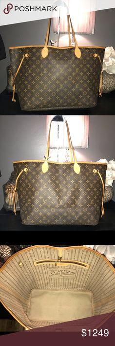 dc56264e53e5 Auth Louis Vuitton Neverfull GM Monogram 😍 This bag has it all