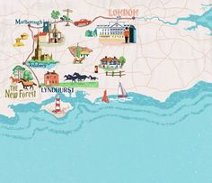 Anna Simmons - map of London to New Forest
