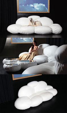 pobujać w chmurach, a dokładniej na Cirrusie ;) http://www.eksmagazyn.pl/design/cos-na-rzeczy/kanapa-cirrus/ || #desing #kanapa #meble #bed #Dizajno